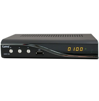 Tuner STB CANVA DVB-T 333 MPEG4 USB E-Ac3 Full HD